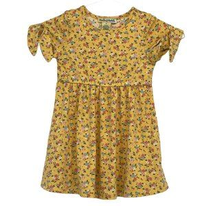 💜 5/$25 - 3T girls yellow floral dress